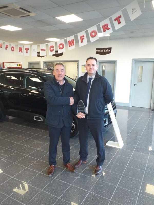 John Corbett Motorvillage Scoop Top Prize for Munster in Car Dealership Awards