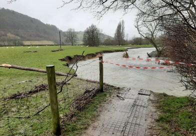 Path closure River Teme in Knighton