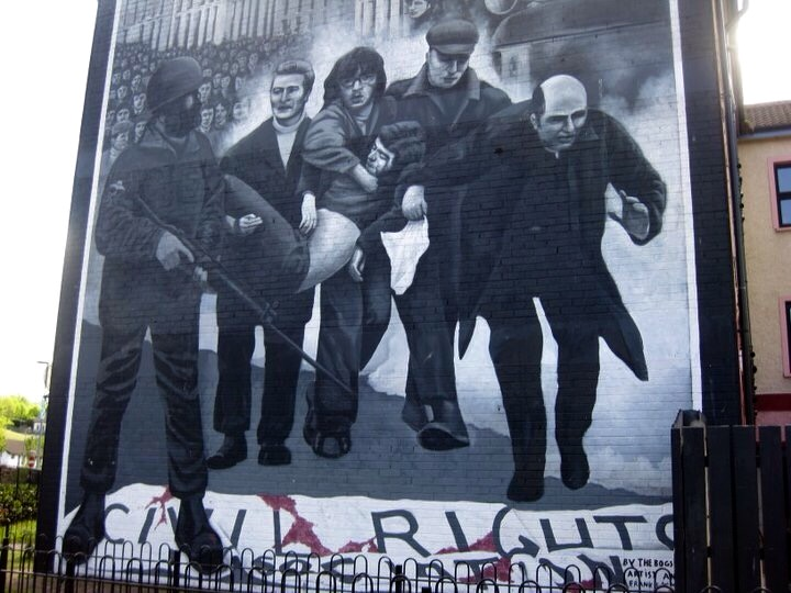 mural depicting the Troubles in Bogside, Derry, Northern Ireland