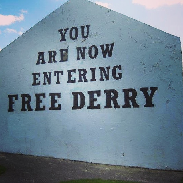 You are now entering free Derry sign Northern Ireland