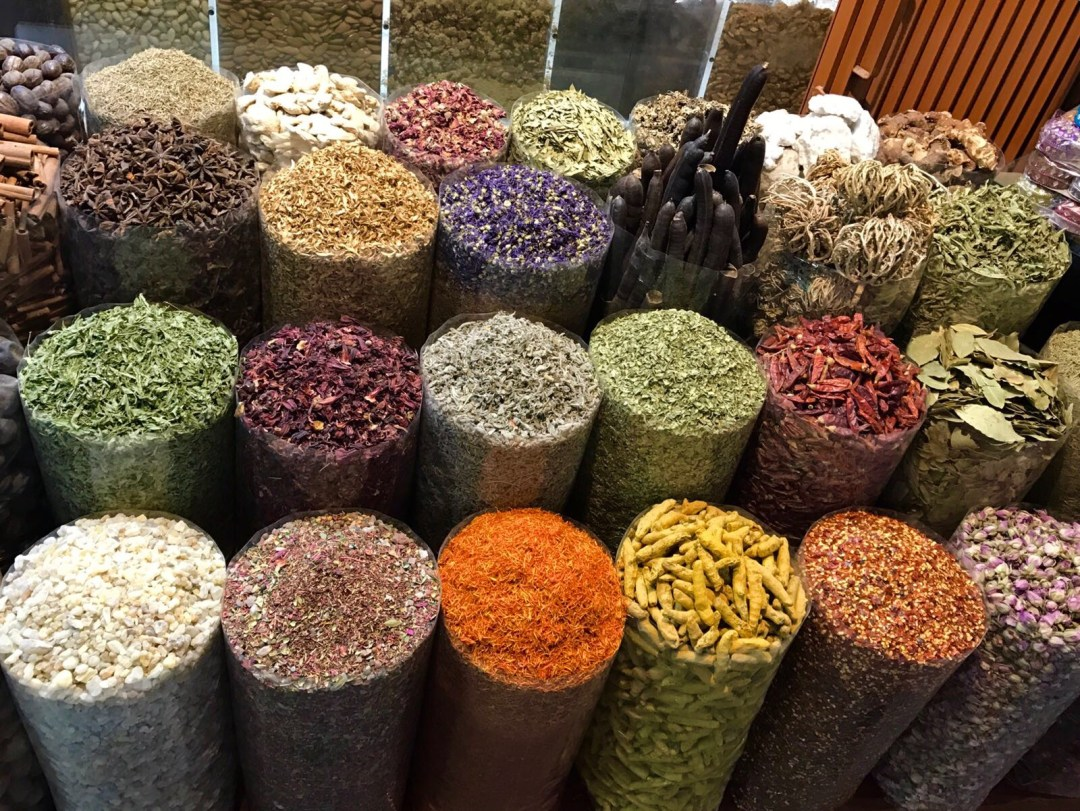 Spices in a Souk in Old Town Dubai