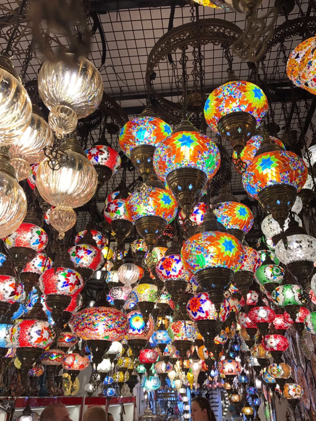 Colourful lanterns in a Souk in Old Town Dubai