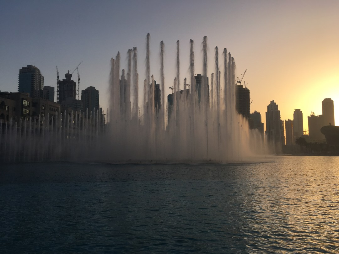 Fountain show in Downtown Dubai