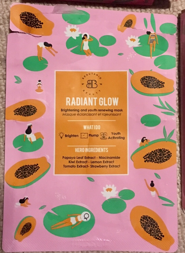 Sheet face mask - Beautanic Beauty Radient glow
