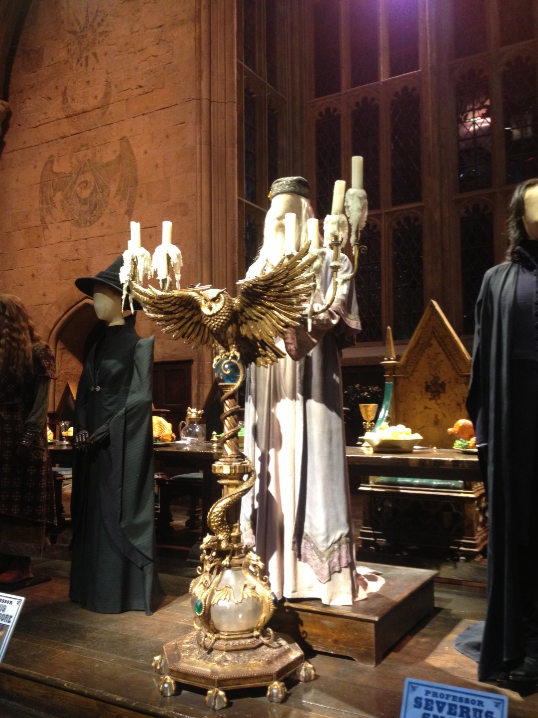 Dumbledore costume at Warner Brothers Studio: The Making of Harry Potter Tour