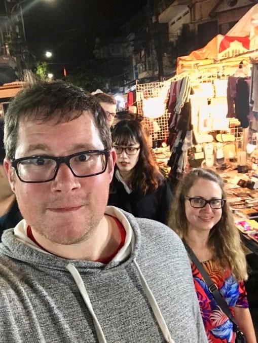Hanoi night market Vietnam