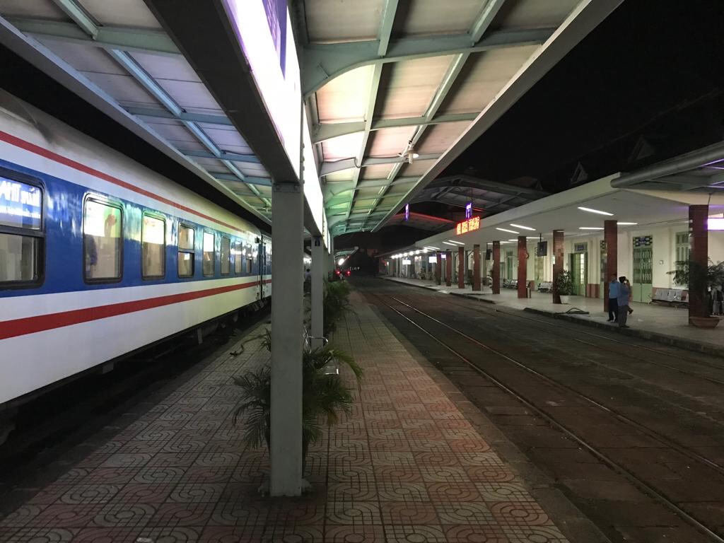 train platform in Nha Trang