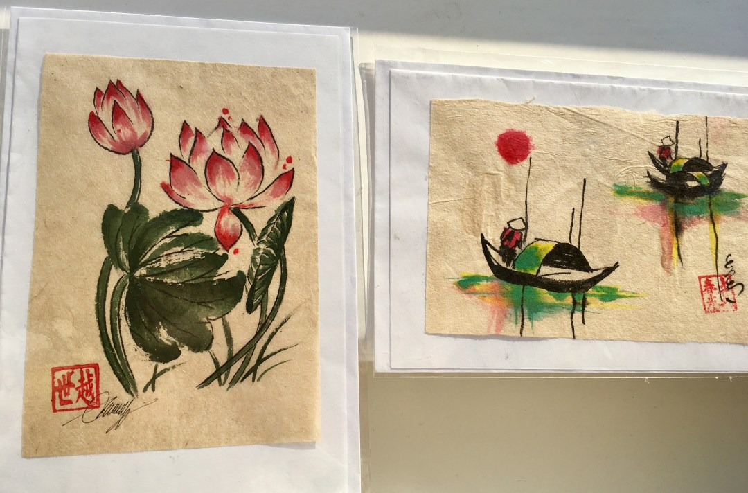 Rice paper paintings purchased in Vietnam