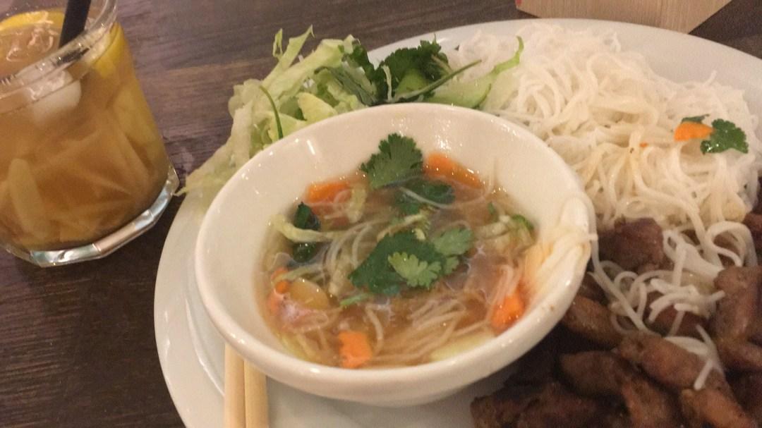 Vietnamese food at Modry Zub in Prague