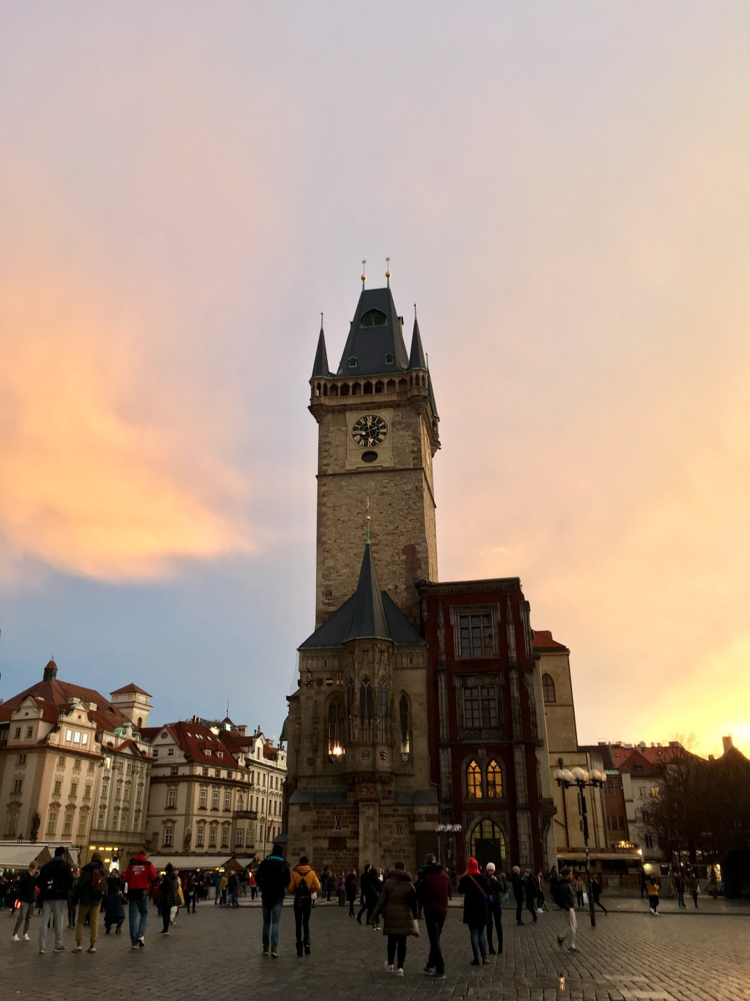 Old Town Square at sunset, Prague, Czech Republic