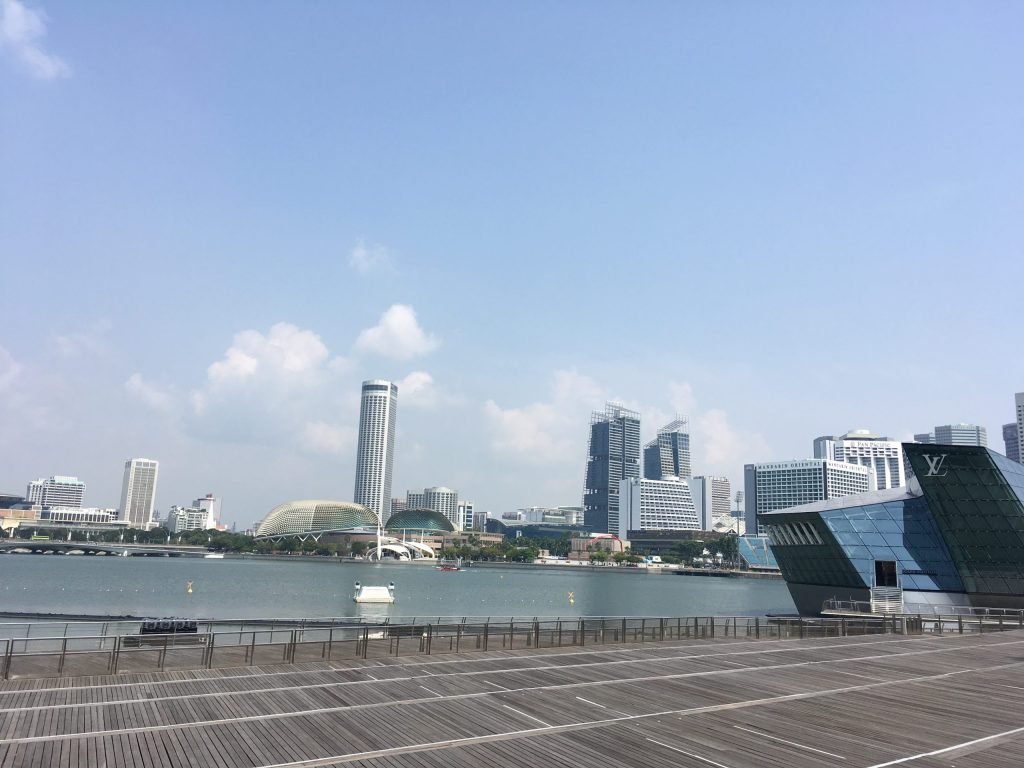 Singapore Marina - where I spent the majority of my 24 hours in Singapore