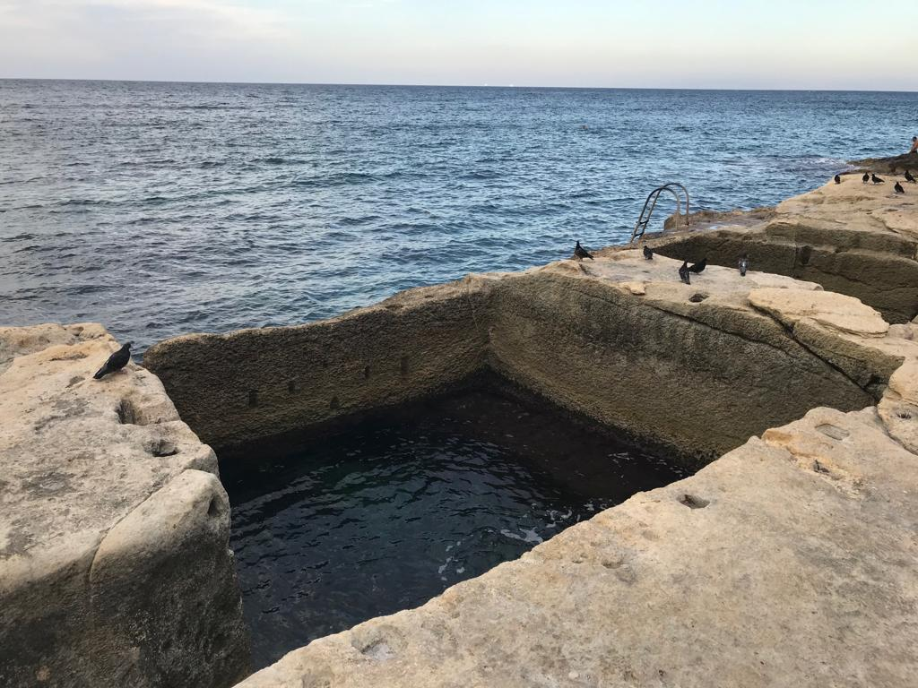 Roman baths in Sliema - pools cut into the natural rock