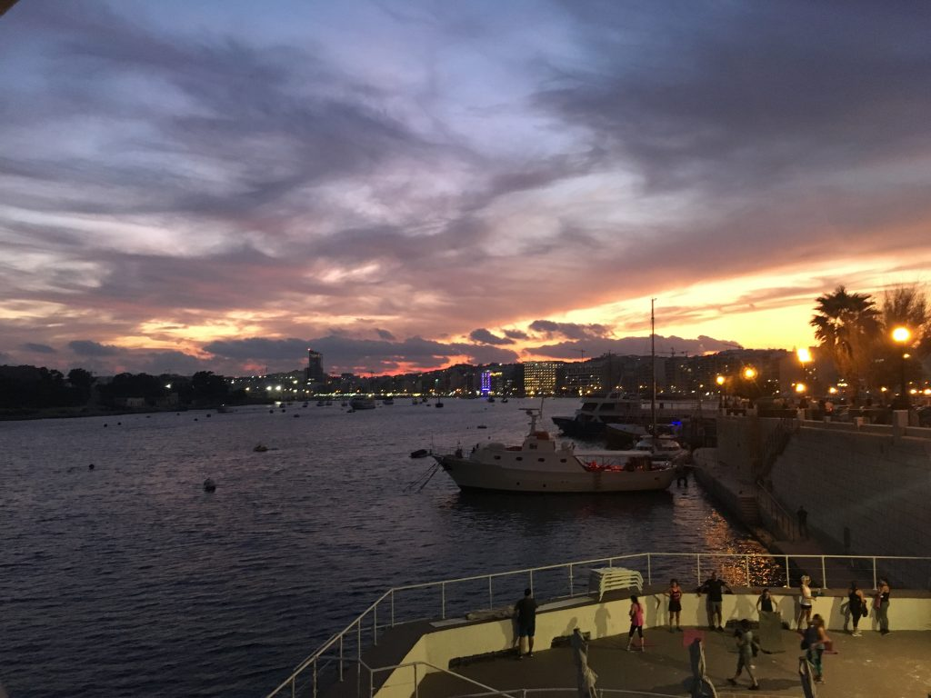 Sunset in Sliema