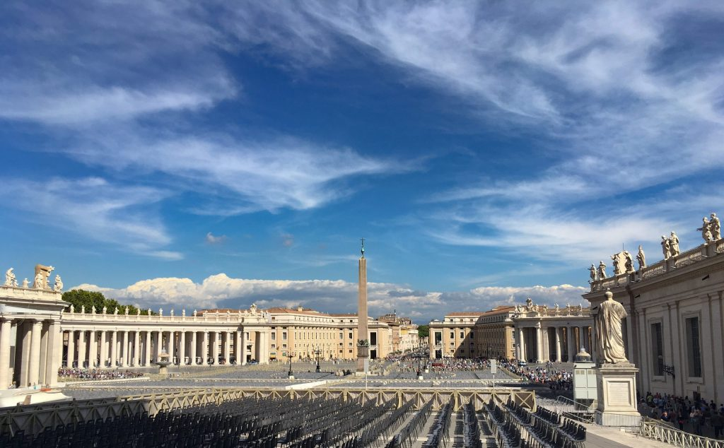 St. Peter's Square, visiting Vatican City