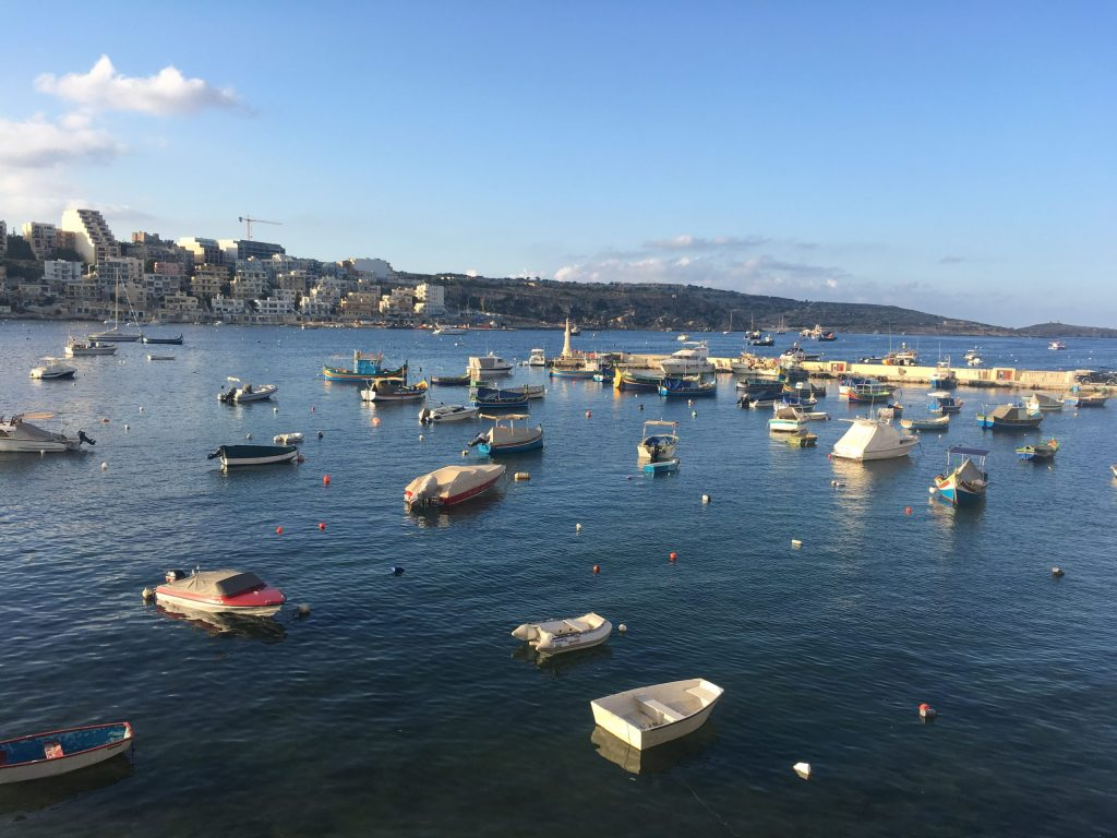 Fishing boats in St Paul's Bay Malta
