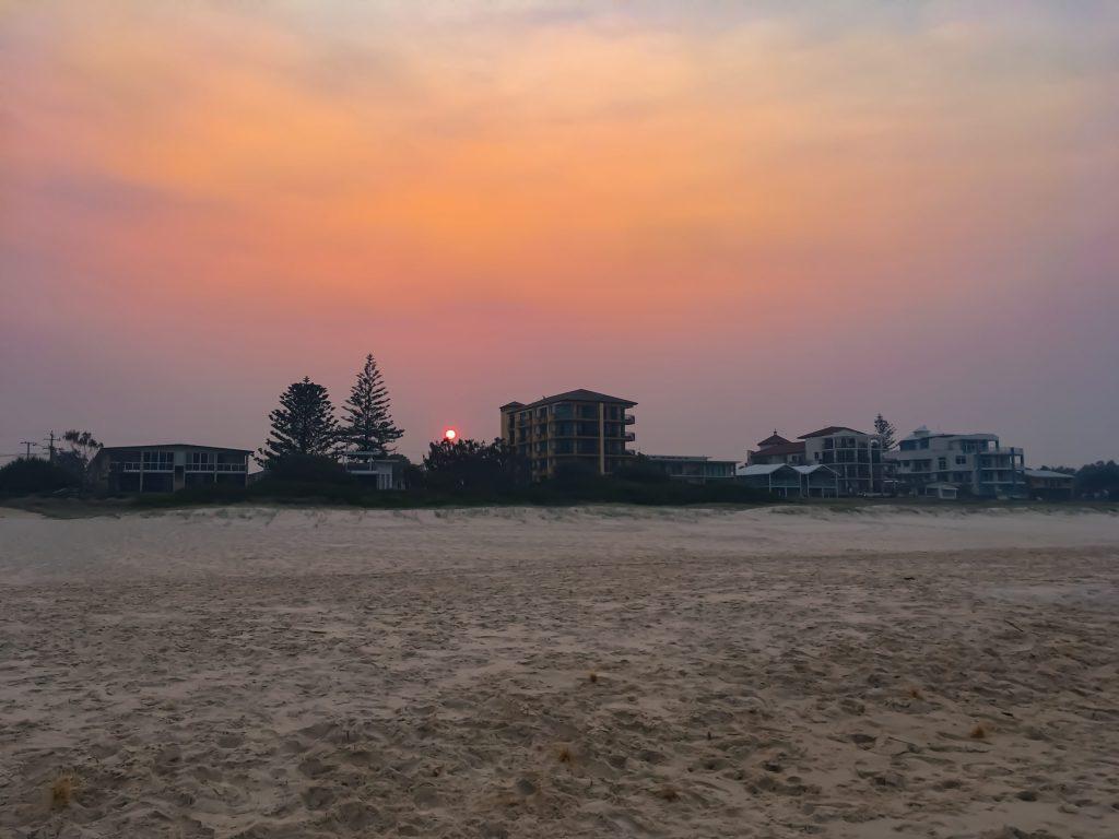 Sunset near Bilanga Beach on the Gold Coast of Australia