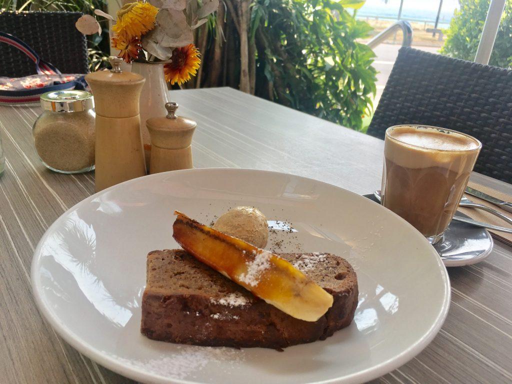 Banana Bread at Elephant Rock Cafe in Currumbin on the Gold Coast of Australia