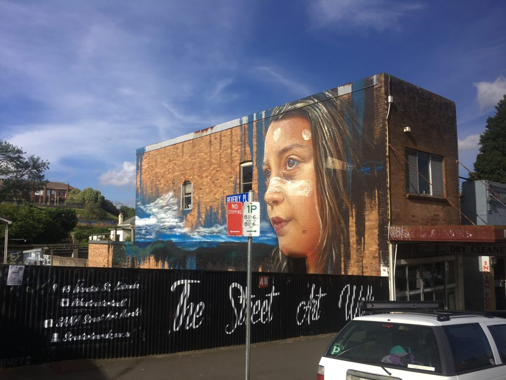 Street art in Katoomba in the Blue Mountains Australia