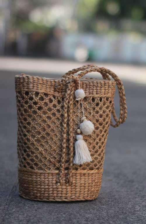 Boho rattan bag  Backpack  Sllingbag