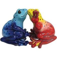 Mwah Kissing Peace Frog Salt & Pepper Shakers