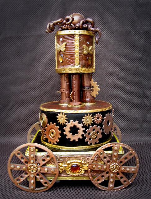 steampunked wedding cake