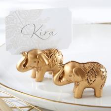 lucky elephant card holder on offbeat bride