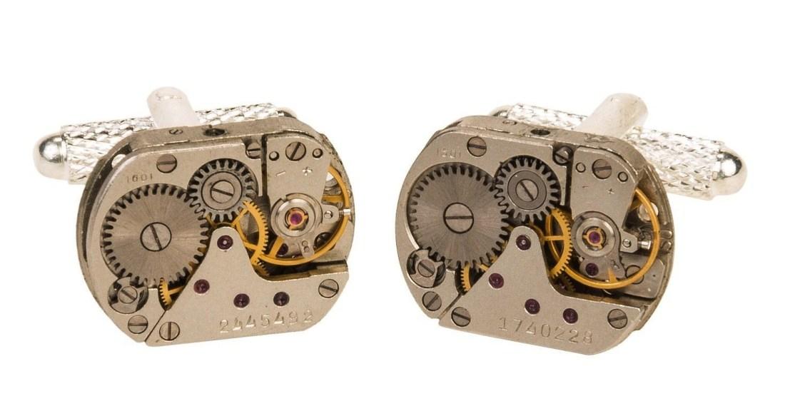 steampunk gear cufflinks