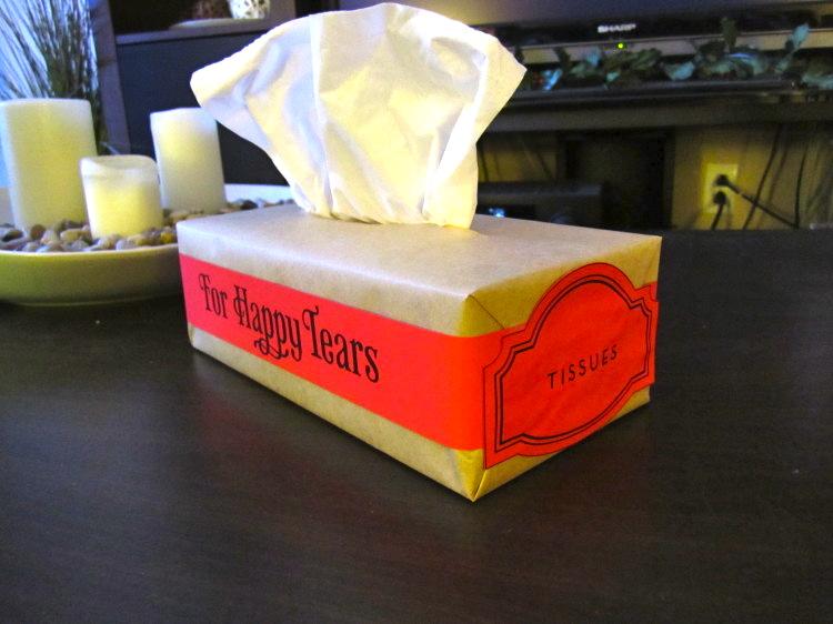 happy tears wedding tissues 15