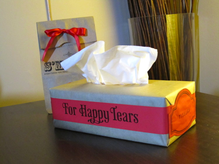 """We have a tutorial for making these """"happy tears"""" boxes."""