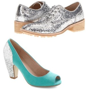 Y's by Yohji Yamamoto from Zappos and Glitter By Little pump from Modcloth