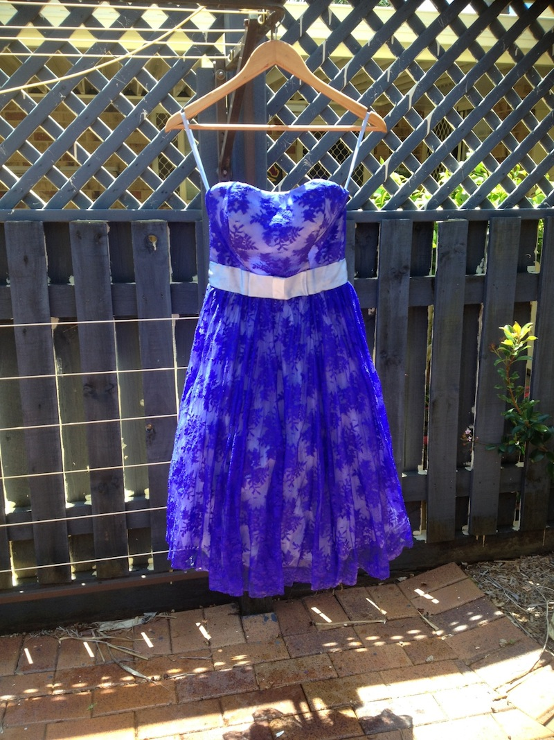 my wedding dress dyed blue