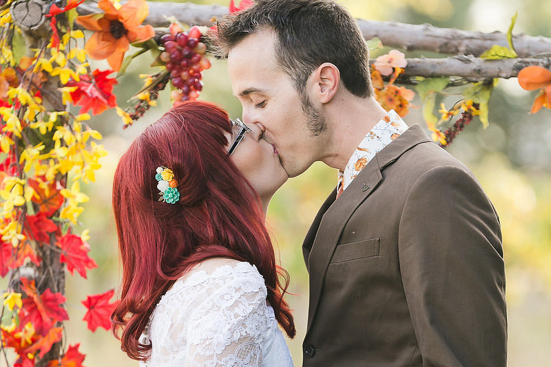 fall floral wedding