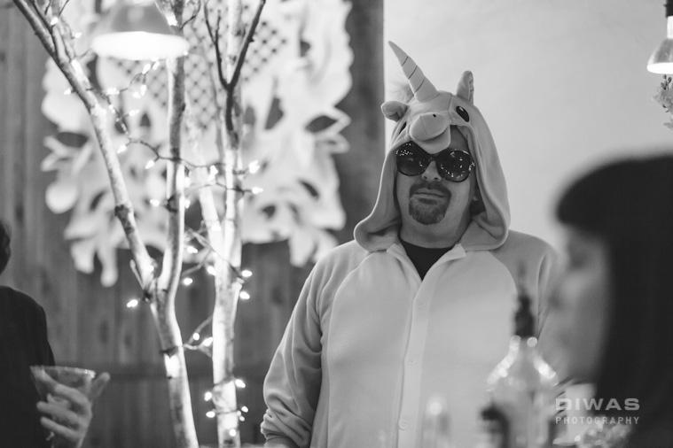 black and white unicorn