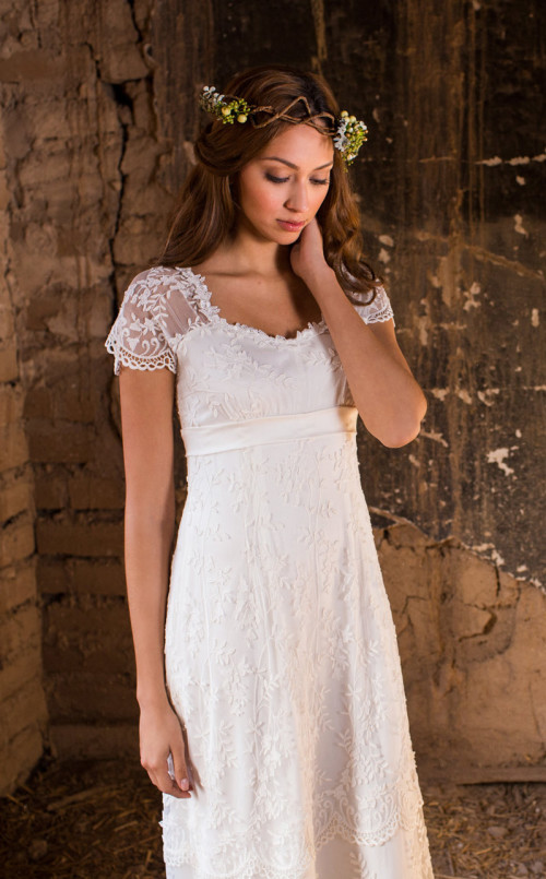 I would never look this sad wearing the Estelle wedding dress. ;)