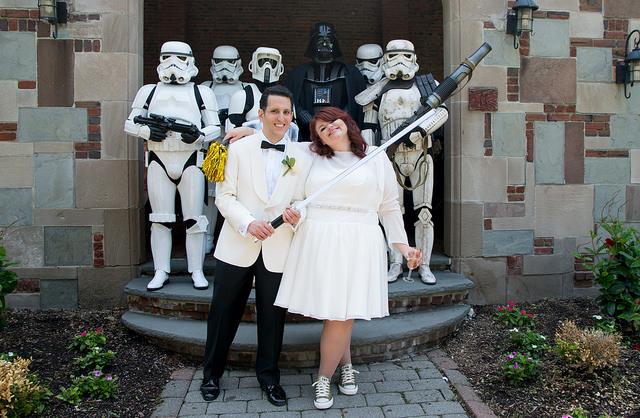 Star Wars wedding @offbeatbride