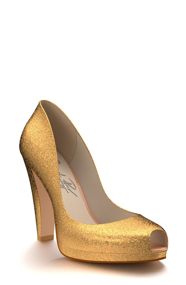 gold sparkly shoes in small sizes on offbeat bride