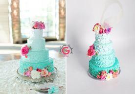 mini wedding cake replica ornament on offbeat bride (1)