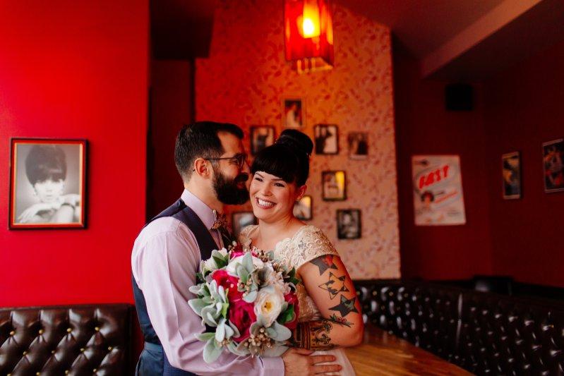 Weekday wedding at a diner as seen on @offbeatbride