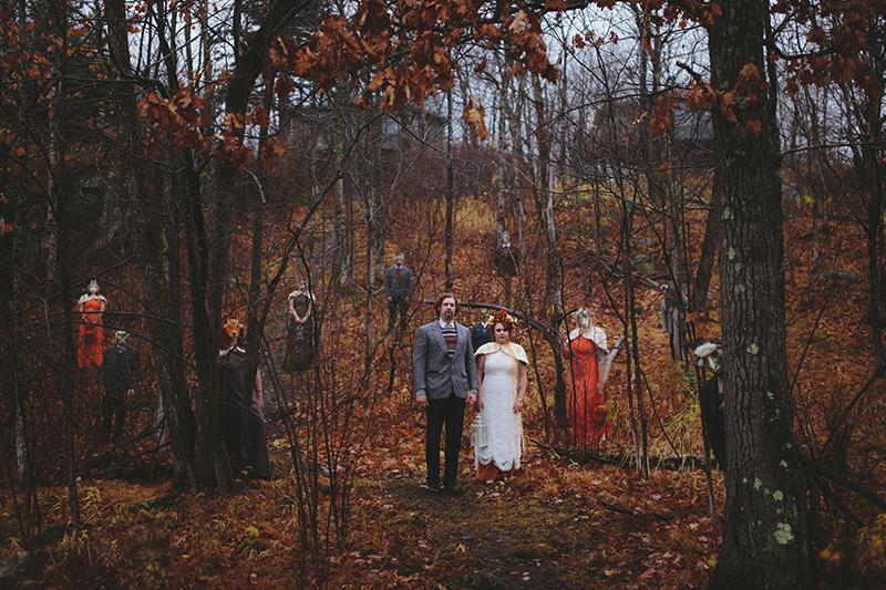 Wicker Man wedding as seen on @offbeatbride