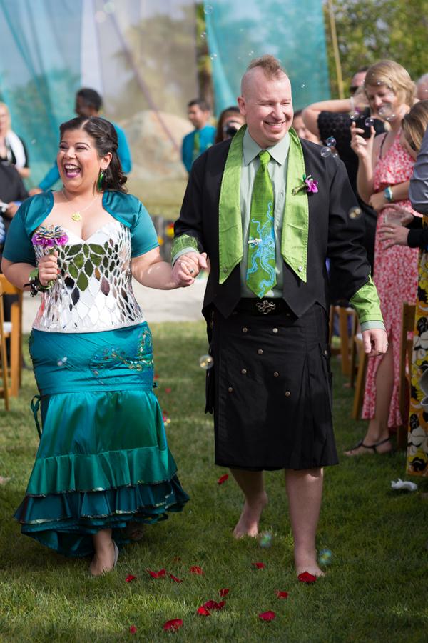 Tentacle teal wedding as seen on @offbeatbride