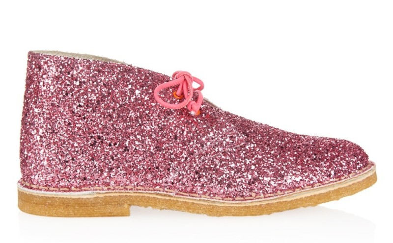 pink glittery oxfords