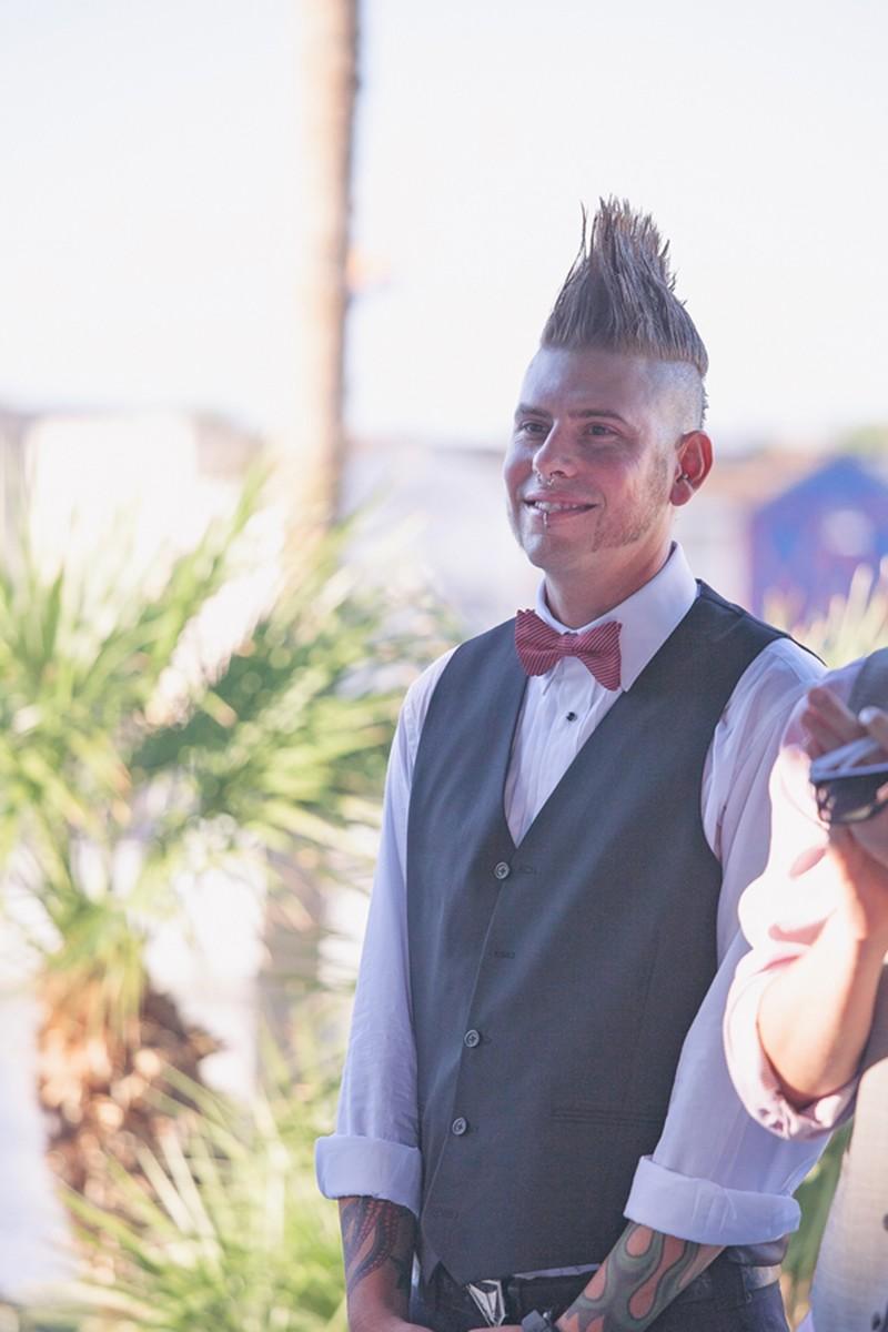 Mohawk groomsmen at this Arizona wedding as seen on @offbeatbride #weddings #mohawks