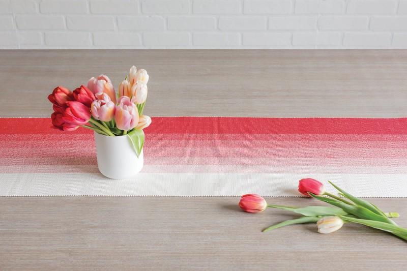Ombre Table Runner in poppy