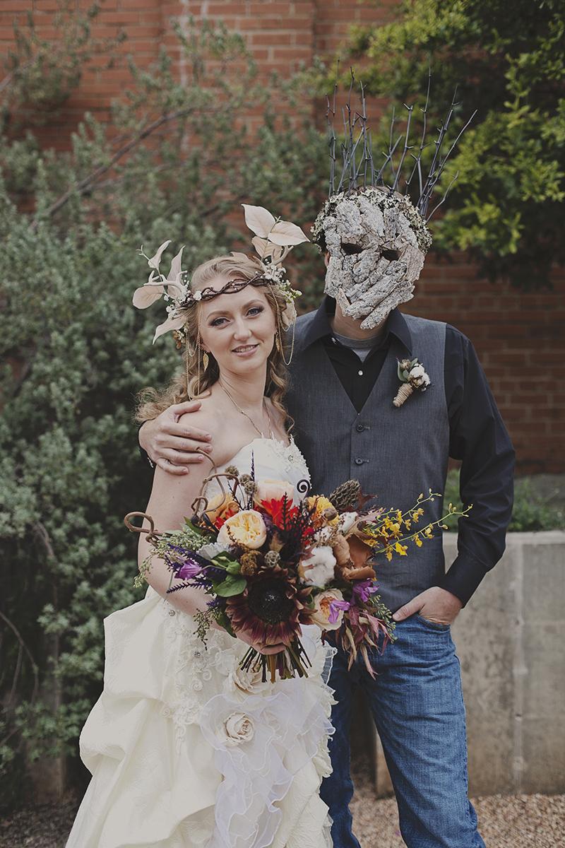 Woodland masquerade wedding as seen on @offbeatbride #halloween #woodland #weddings