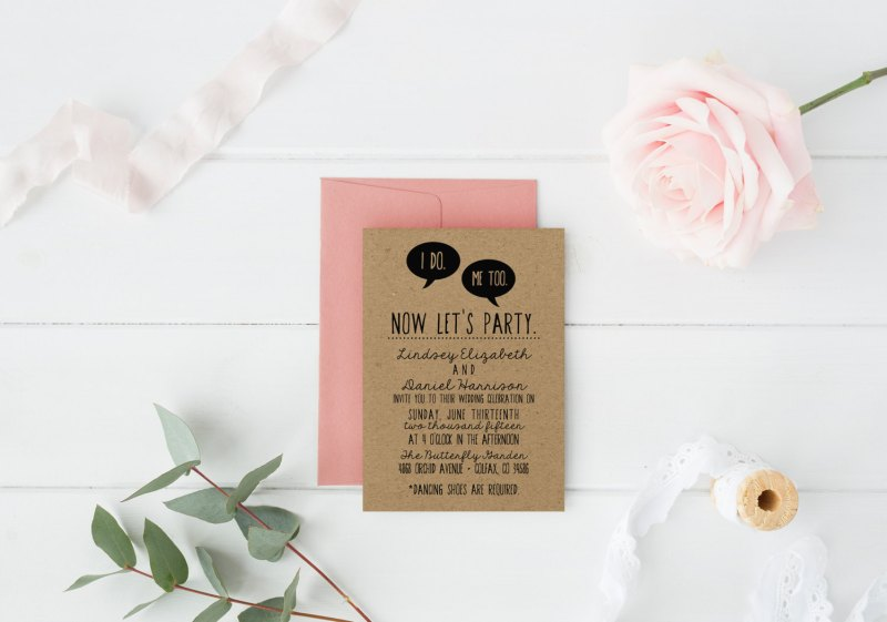 Funny wedding invitations as seen on @offbeatbride #wedding #invitation