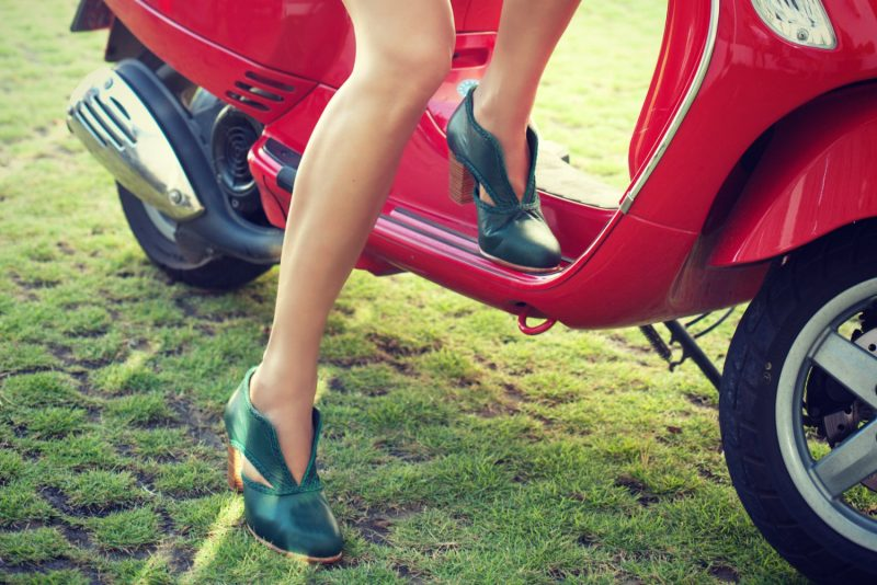green-leather-booties