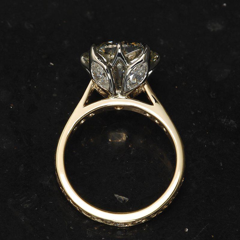 Custom engagement ring.
