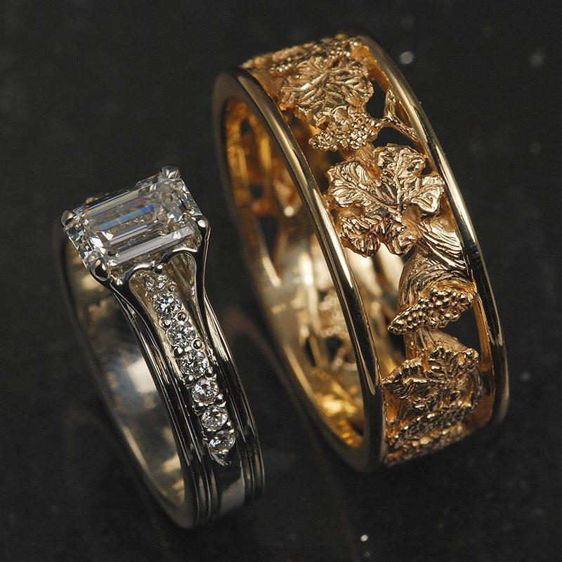Wedding ring set by Hunt Country.