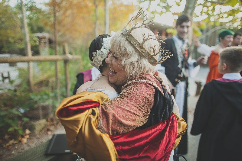 Prepare to squeal at the ARMORED corset dress at a medieval wedding