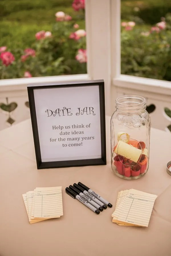 Collect ideas in a date night guest book